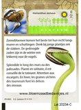 Zonnebloem zakje met tekst/logo in kleur_