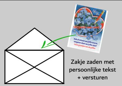 Verzending zakje met tekst/logo