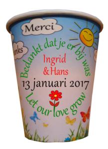Flowercup type Bedankt + Tekst