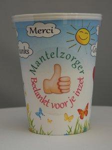 Mantelzorg Flowercup type Bedankt + Tekst