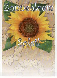 Zonnebloemen zakje zonder tekst / logo